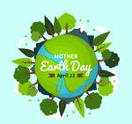 地球日长满树木的地球