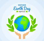 地球日树枝和地球