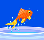 跳出鱼缸的金鱼
