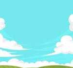 草地和晴朗天空
