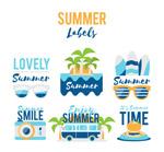 夏季元素标签