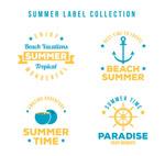 夏季度假标签