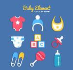 彩色婴儿用品
