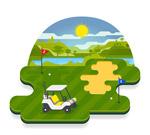 高尔夫球场风景