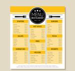 黄色餐馆菜单设计