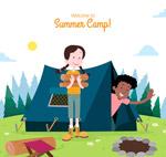 野营中的孩子