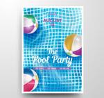 泳池派对传单