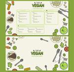 彩绘素食餐馆菜单