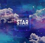 夜空和星星背景