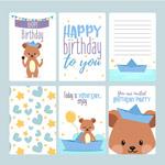 可爱熊生日卡片