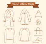冬季女性服饰元素