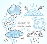 彩绘云朵涂鸦