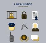 创意法律元素图标
