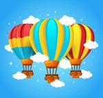 条纹云中热气球