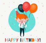 拿气球的生日男孩