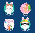 夏季白兔标签