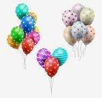 精美花纹气球束
