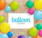 彩色纸屑和气球
