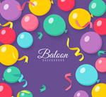 彩色丝带和气球