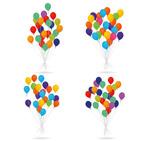4款彩色气球束