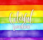 彩虹条纹背景