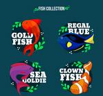 彩色带名字的鱼类