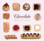 巧克力块和巧克力条