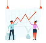 业务增长曲线商务男女