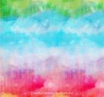 彩绘彩虹色天空