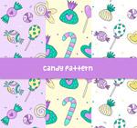 紫色糖果无缝背景