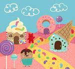 可爱卡通糖果世界