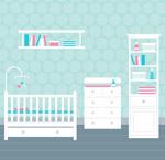 白色家具婴儿房