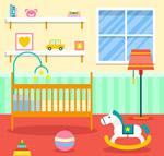 彩色婴儿房设计