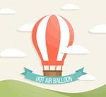 红白条纹热气球
