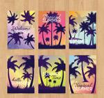 夏季棕榈树卡片