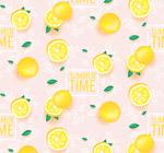 夏季柠檬无缝背景