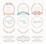 婚礼花纹和标签