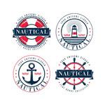 做旧效果航海徽章