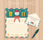 圣诞信纸和信封
