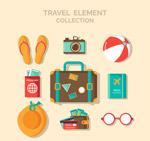 9款彩色旅行物品