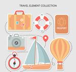 创意旅行元素贴纸
