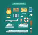 精致旅行元素