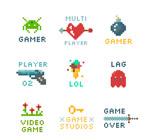 彩色像素游戏标志