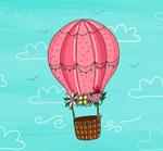 花卉装饰热气球