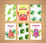 彩绘夏季卡片
