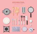厨房用品俯视图