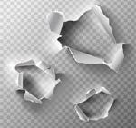 破洞纸张与撕纸