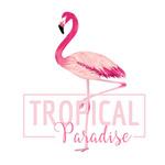 粉色热带火烈鸟