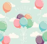 彩色气球束矢量