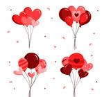 4款红色气球束